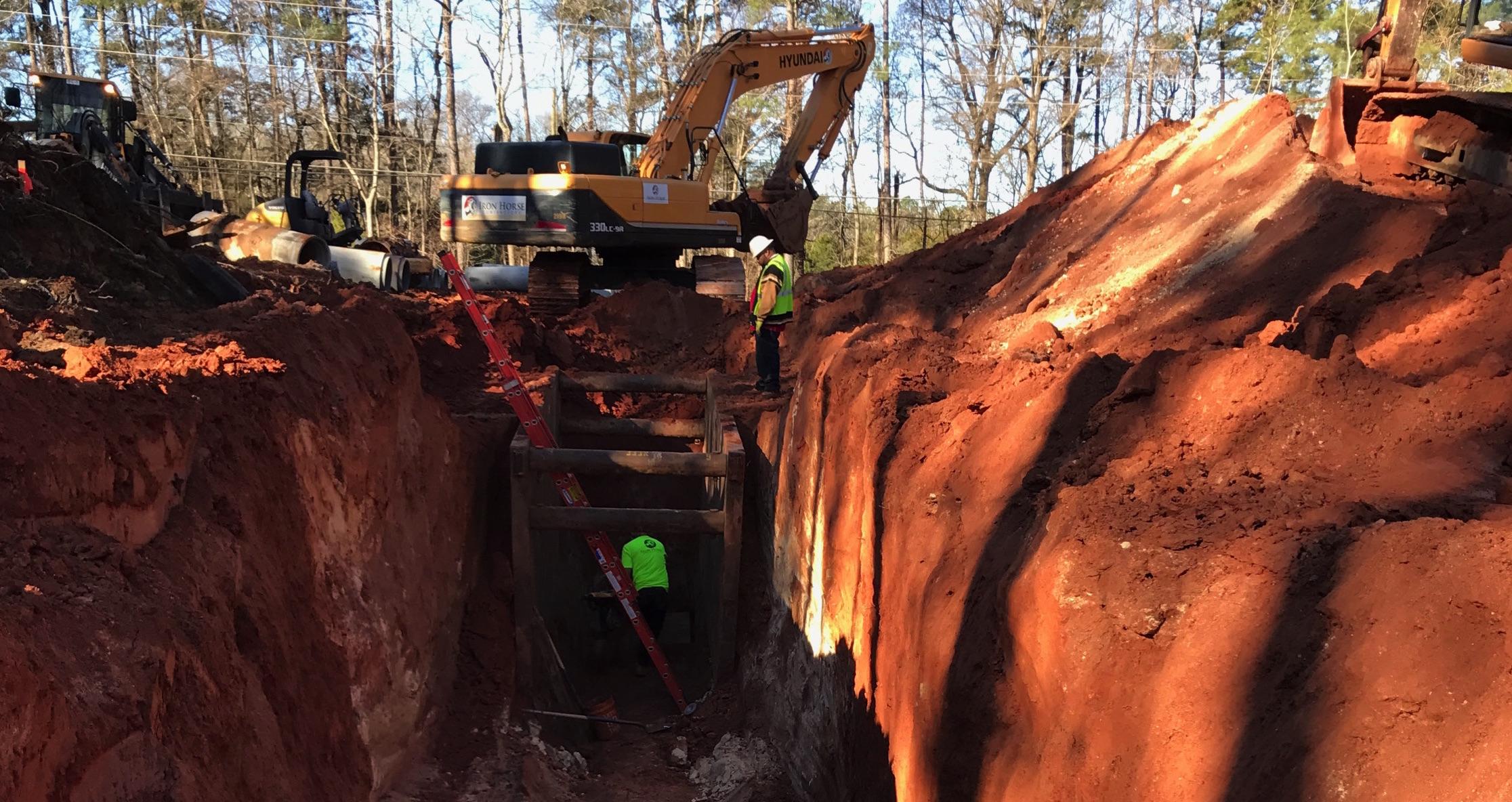 trench-shoring-sewage